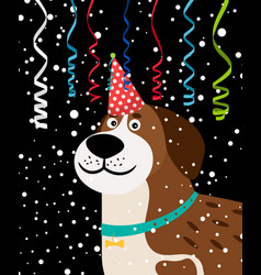 Dog party background vector