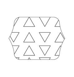 Edge quadrate with graphic geometric style vector