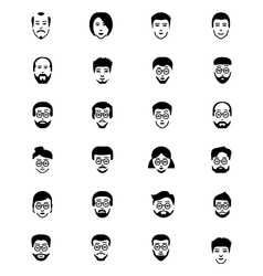 Faces icons 5 vector
