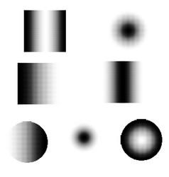 halftone gradation shapes set vector image vector image