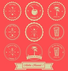 Hawaii Holiday Vintage Label Design vector image vector image