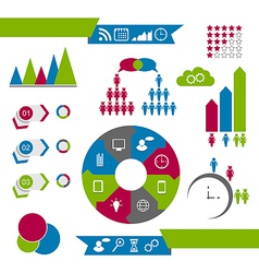 Infographic communication design elements vector image