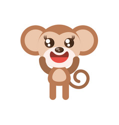 kawaii monkey animal toy vector image