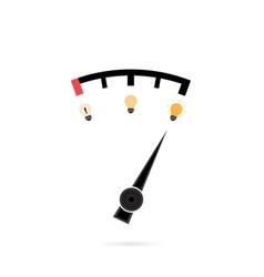 Light bulb icon and creativity measure icon logo vector