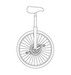 monocycle race isolated icon vector image