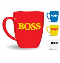 mug for big boss fun vector image vector image