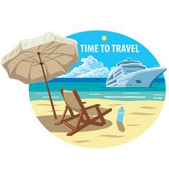 ocean cruise resort vector image