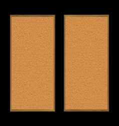 Pin board pair vector