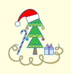 Santa design card vector image vector image