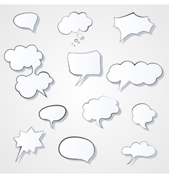Set of comic 3d speech bubbles icon thought vector