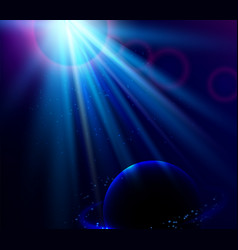 Shining blue color light effects with vector