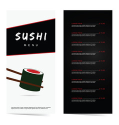 Sushi japanese food in color vector