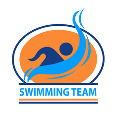 swimming team logo vector image