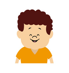 young boy child people character male vector image