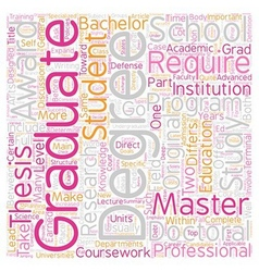 Should i go to graduate school text background vector