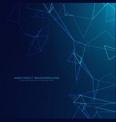 Abstract technology style background with blue vector