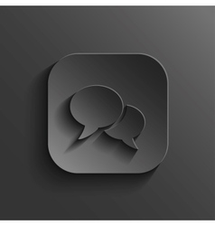Speech icon - black app button vector