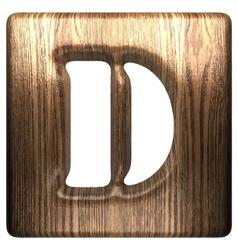 wooden figure d vector image