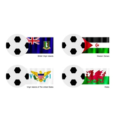 Soccer ball of virgin islands western sahara vector
