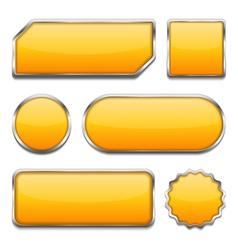 Orange buttons vector