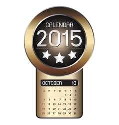 October calendar 2015 fiber background vector