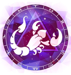 Zodiac sign scorpio vector