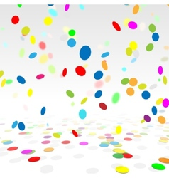 Party background with a colorful confetti stock vector