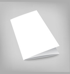 Blank tri fold cover flyer on gray vector