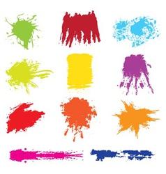 Set of grunge brush vector