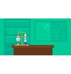 Background of chemistry laboratory vector