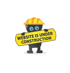 Website is under construction vector