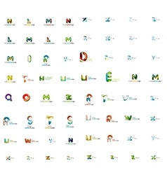 Abstract company logo mega collection type vector