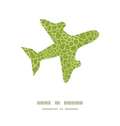 abstract green natural texture airplane vector image vector image