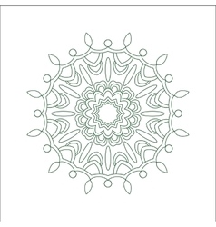 Abstract hand drawn outline circular ornament vector image