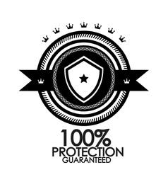 Black retro vintage label tag badge protection vector image vector image