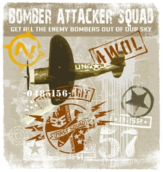 bomber attacker squad vector image