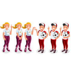 boys and girls people cartoon vector image vector image