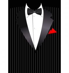 business suit vector image