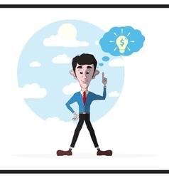 Businessman and lightbulb inspirational idea vector image vector image