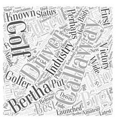 Callaway word cloud concept vector