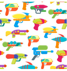 cartoon toy water guns background pattern vector image vector image