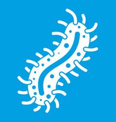 Cell of dangerous virus icon white vector