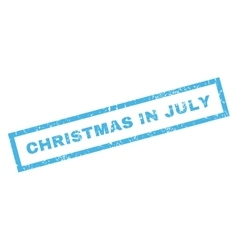 Christmas in july rubber stamp vector