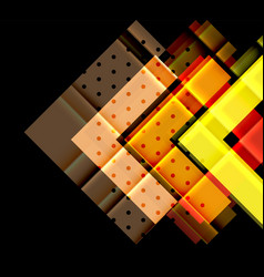 Color arrows on black background vector