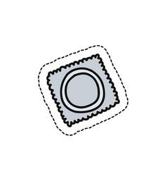 Condom doodle icon vector