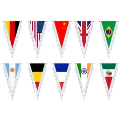 country flags vector image