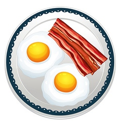 Egg and becon vector