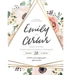 floral design card garden lavender pink rose vector image vector image