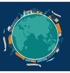 Global logistic shipping delivery concept vector