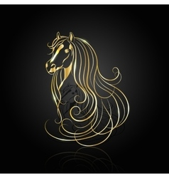 Gold abstract horse vector